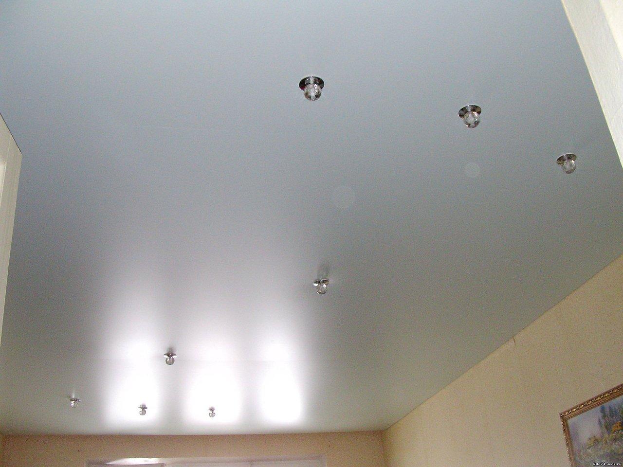 Потолок сатин фото